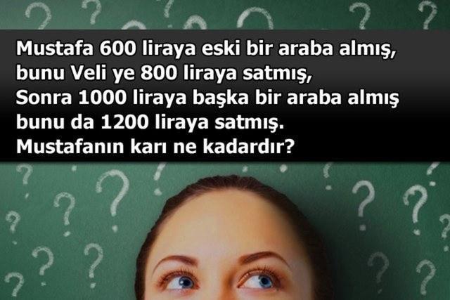 Beyin çalıştıran zeka soruları