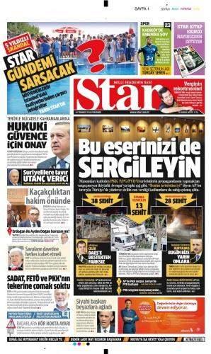 14 Temmuz 2016 Perşembe Gazete Manşetleri