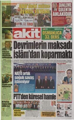 9 Temmuz 2016 Cumartesi Gazete Manşetleri