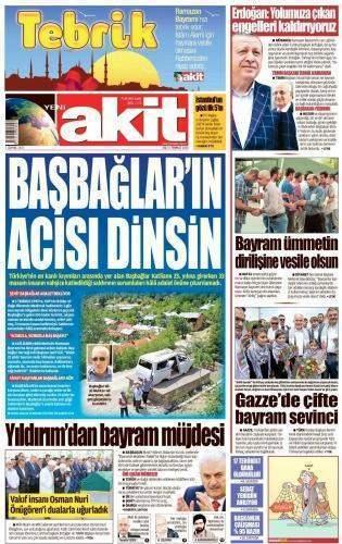 5 Temmuz 2016 Salı Gazete Manşetleri