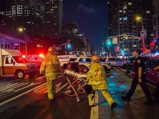 New York patlamasının görüntüleri