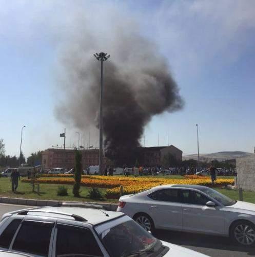 Elazığ Emniyet Müdürlüğü terör saldırısı - Olay yerinden görüntüler