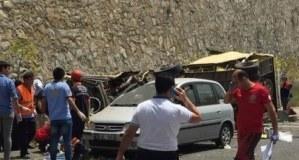 Mugla Marmaris'te Tur Otobüsü Kaza Görüntüleri