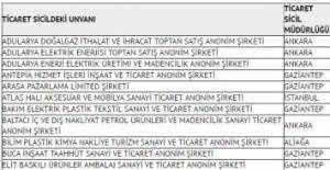 TMSF'nin el koyduğu 691 FETÖ şirketinin isim listesi