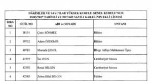 HSYK'dan İhraç Edilen Hakim ve Savcıların İsim Listesi