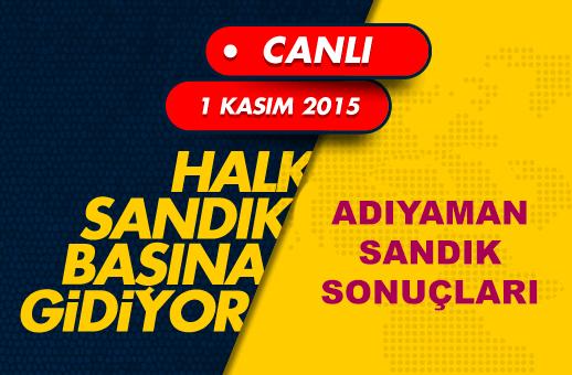 1 Kasım 2015 Adıyaman seçim sonuçları