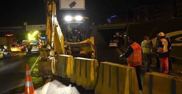 E-5 Şirinevler girişi trafiğe kapatıldı