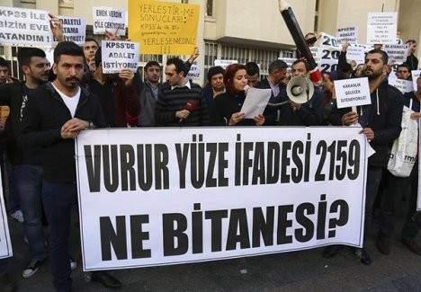 KPSS Mağdurları Ankara'da eylem yaptı