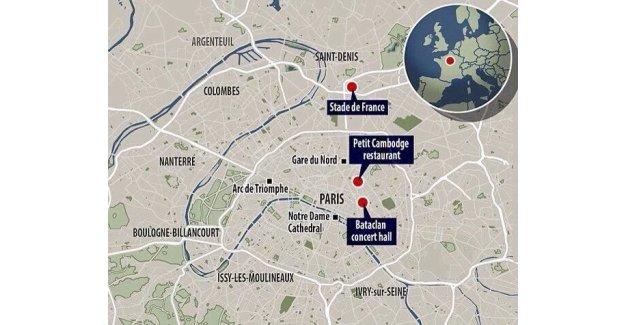 Paris'te terör saldırılarının gerçekleştiği yerler