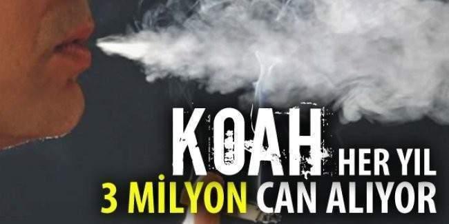 Uzmanlar KOAH hastalığı için tehlike çanları uyarısı yapıyor