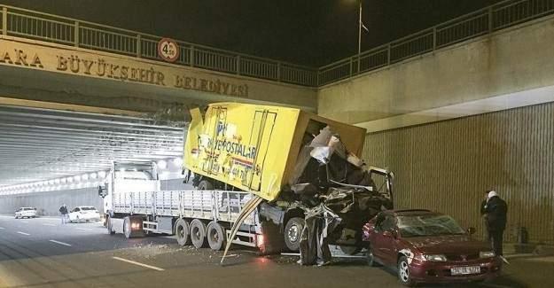 Ankara'da bir garip kaza