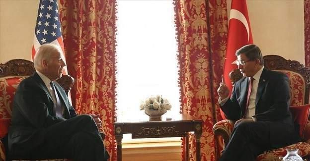 Joe Biden ile Davutoğlu görüştü