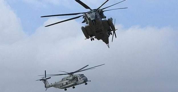 Helikopterler havada çarpıştı!