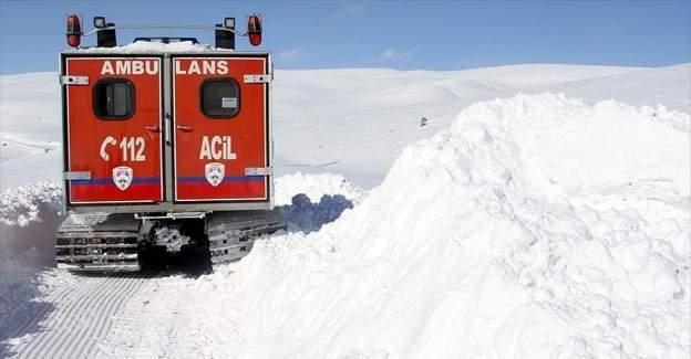 Kış ambulansları hayat kurtarıyor