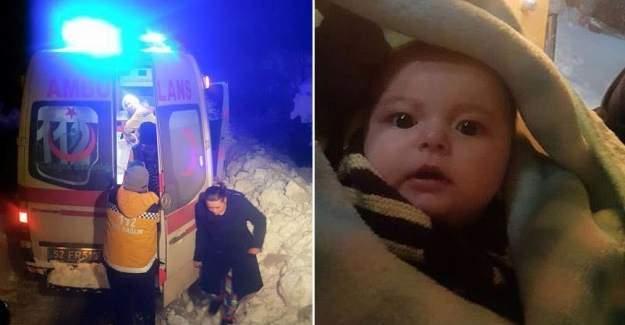 Sağlık ekipleri ateşlenen bebek için seferber oldu