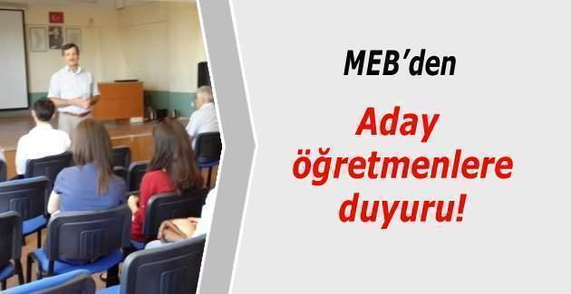 Aday öğretmenler dikkat! Aday öğretmenlik sınavı yer değişikliği için MEB'den duyuru