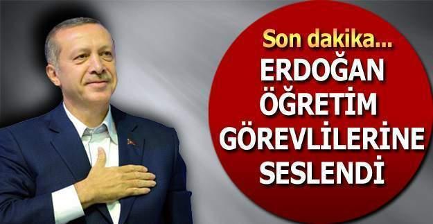 Cumhurbaşkanı Erdoğan'dan öğretim görevlilerine çağrı: Gelin imam hatiplere müdür olun!