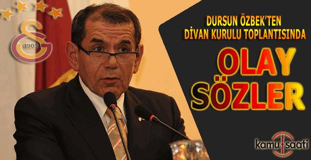 """Dursun Özbek: """"Galatasaray Avrupa'dan 1 yıl men cezası alabilir"""""""