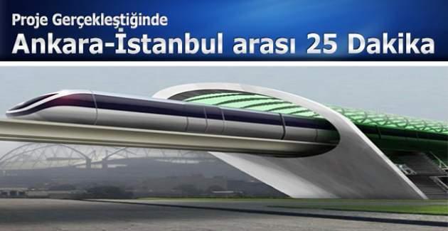 İstanbul-Ankara arası 25 dakika olacak