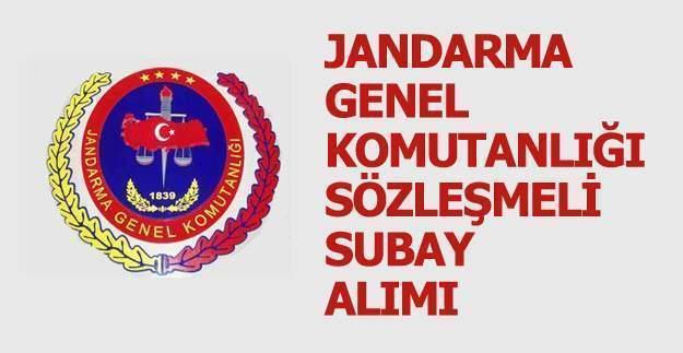 Jandarma Genel Komutanlığı Sözleşmeli Subay Alım İlanı duyuruldu