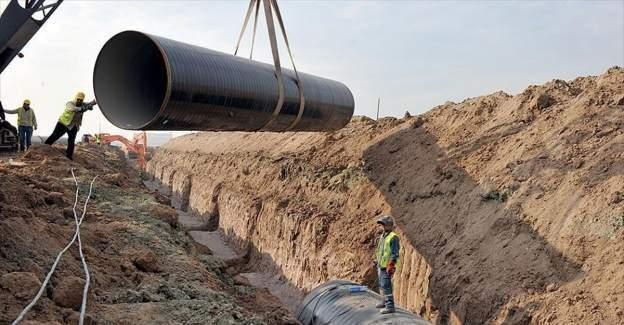 Yeni su kaynakları için 3 bin 216 kilometre isale hattı döşendi