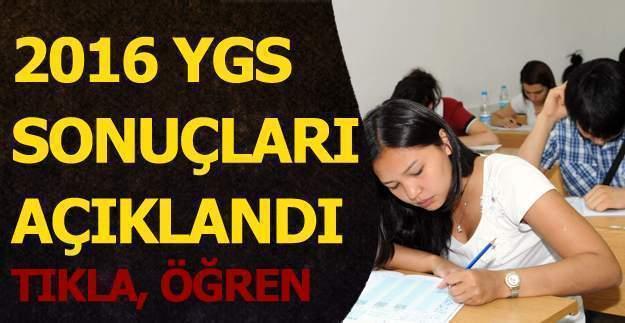 2016 YGS sonuçları  - ÖSYM YGS sınav sonucu - sonuc.osym.gov.tr YGS sonuç belgesi