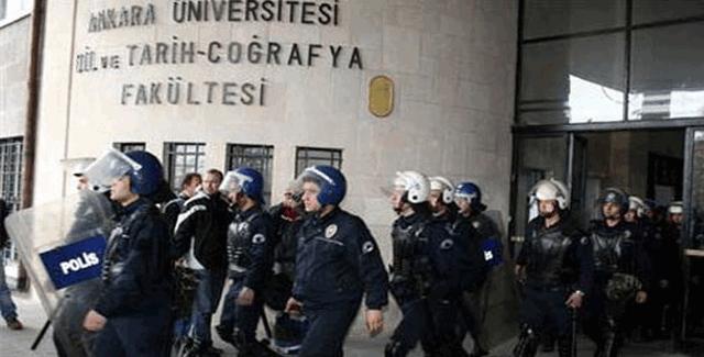 Ankara Üniversitesi'nde iki karşıt grup arasında gerginlik