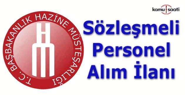 Hazine Müsteşarlığı Sözleşmeli Personel Alım ilanı