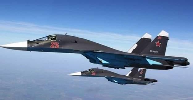 Rusya'nın savaş uçağı düştü!