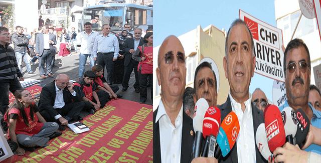 Terörist Berna Yılmaz'ın serbest kalması için CHP'li vekiller eylem yapmış