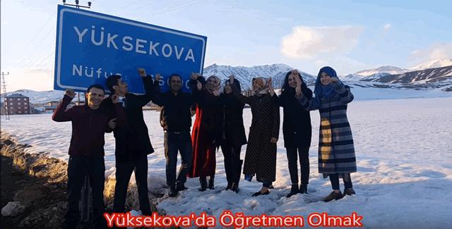 """Yüksekova'da görev yapan öğretmenlerden anlamlı video; """"Yüksekova'da Öğretmen Olmak"""""""