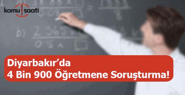 4 bin 900 öğretmene soruşturma!