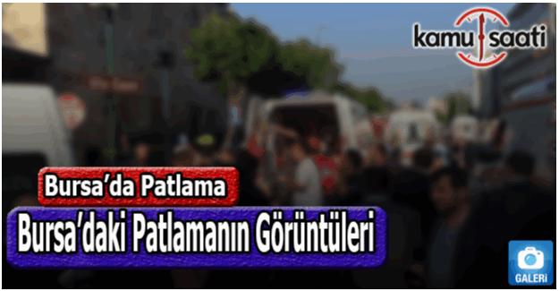 Bursa'daki patlamanın görüntüleri