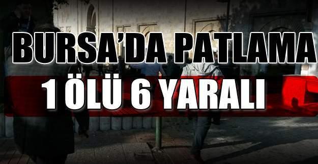 Bursa'da patlama oldu! Kapalı Çarşı Ulu Camii girişindeki patlamada canlı bomba şüphesi!