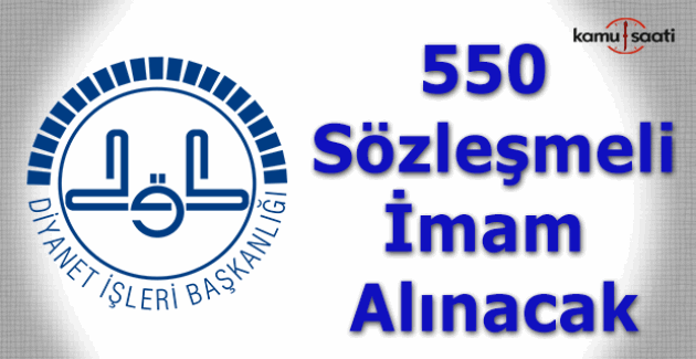 Diyanet'ten 550 sözleşmeli imam alım ilanı
