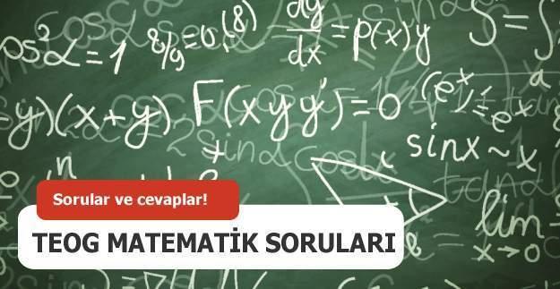 TEOG matematik sınav soruları ve cevapları 27 - 28 Nisan 2016