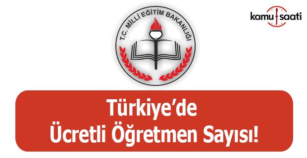 Türkiye'de ücretli öğretmen sayısı!