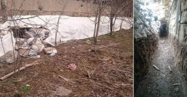 Yüksekova'da, teröristlerin sera görünümlü tüneli bulundu