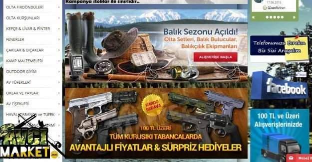 Avcılık ürünleri satışı