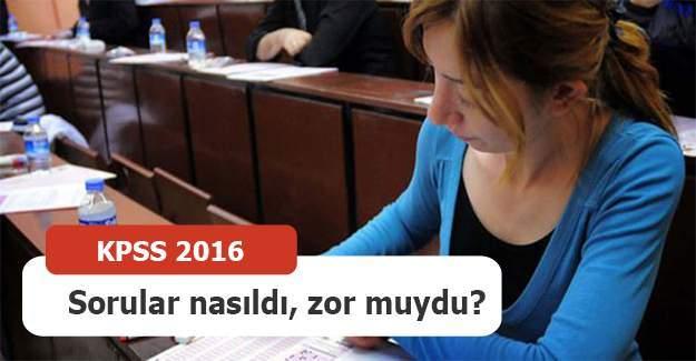KPSS nasıldı? 2016 KPSS uzman yorumları