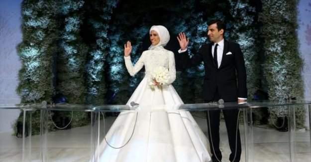 Sümeyye Erdoğan'ın nikah görüntüleri