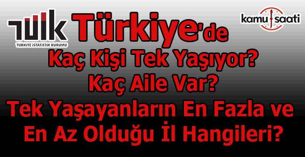 Türkiye'de 3.1 milyon kişi tek başına yaşıyor!