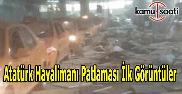 Atatürk Havalimani'ndaki patlamanın ilk görüntüleri (video)