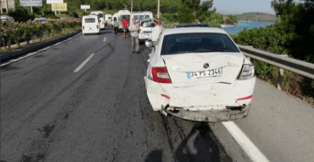 Bodrum'da 20 araç ard arda çarpıştı: Çok sayıda yaralı var