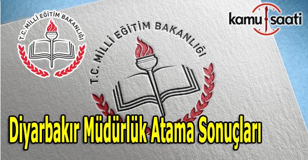 Diyarbakır İL MEM müdürlük atama sonuçları açıklandı