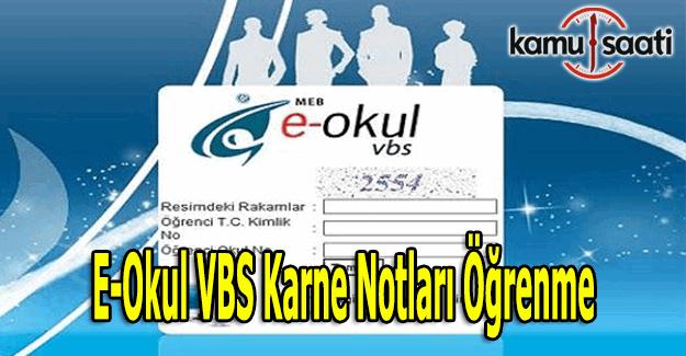 e-Okul Veli Bilgilendirme Sistemi -  e-Okul VBS karne notları öğrenme ve sorgulama