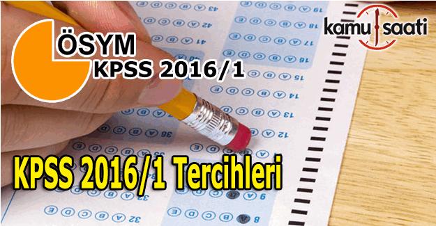 KPSS 2016/1 tercihleri başladı - ÖSYM'den KPSS tercihleri ile ilgili önemli açıklama
