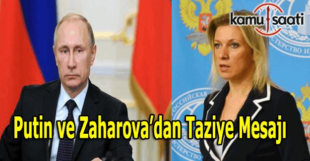 Putin ve Mariya Zaharova'dan Türk Halkına taziye mesajı