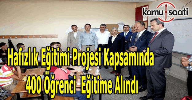 Sivas'ta 400 öğrenci Hafızlık Eğitimi Projesi kapsamında eğitime alındı
