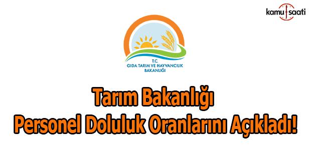 Tarım Bakanlığı doluluk oranlarını açıkladı
